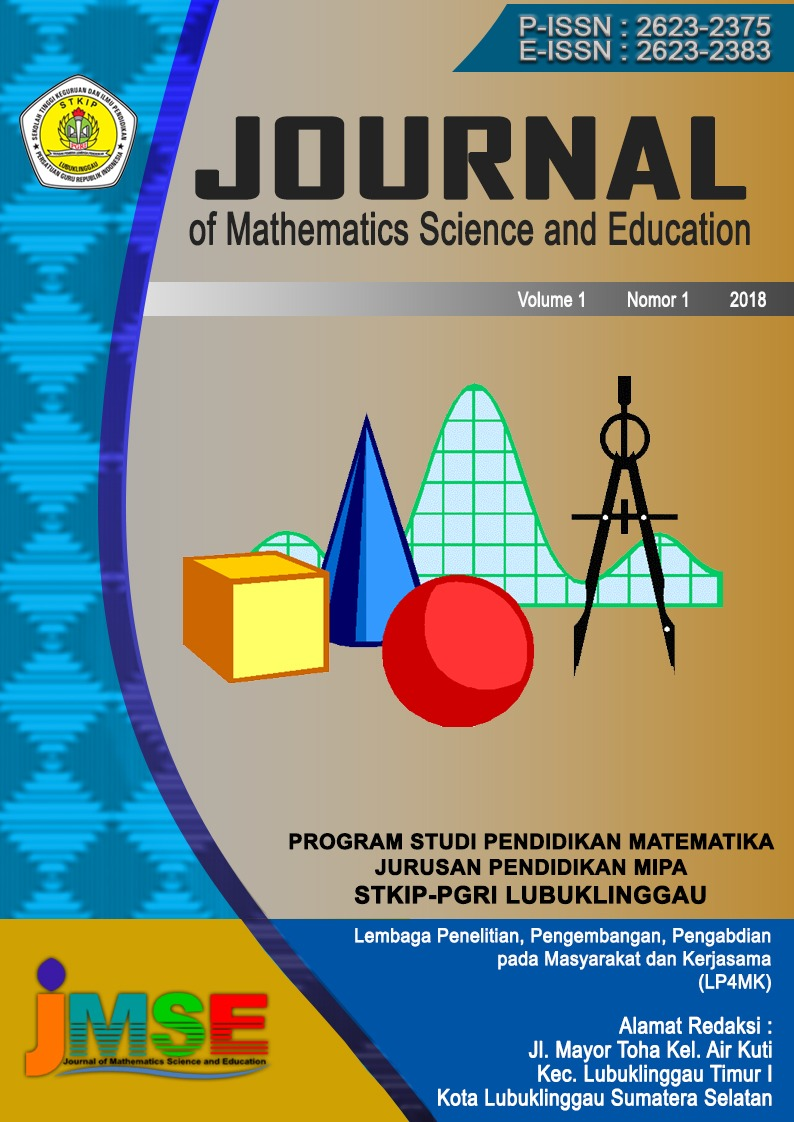 Cover JMSE Vol 1 No 1 2018